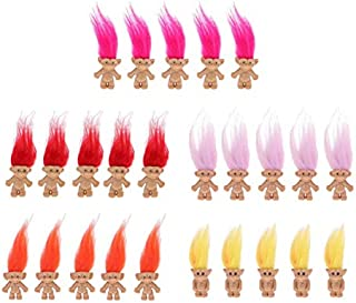 Baosity Chromatic 25pcs Lucky Troll Dolls Mini Action Figures Toy Cake Toppers Decor