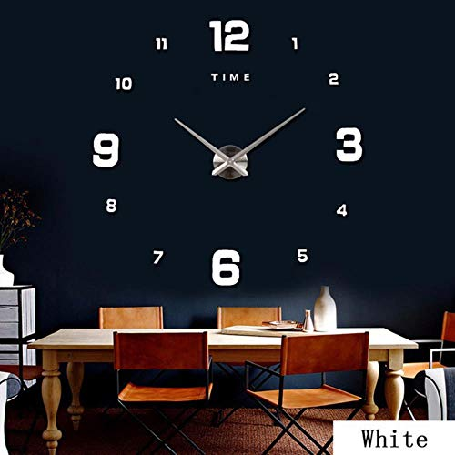 aifengxiandonglingbaihuo 47inch wandklok modern design kwarts klokken mode horloges spiegel sticker woonkamer decor 3D DIY grote acryl muur klok