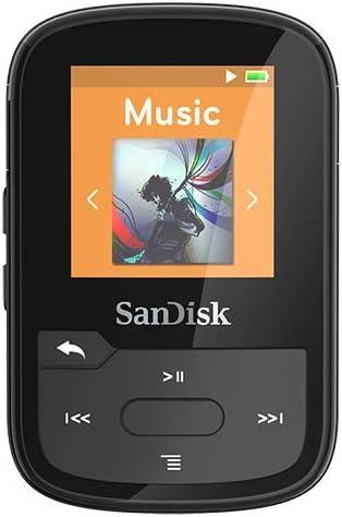 SanDisk SDMX28-016G-G46K Clip Sport Plus MP3 Player, 16GB (Black)