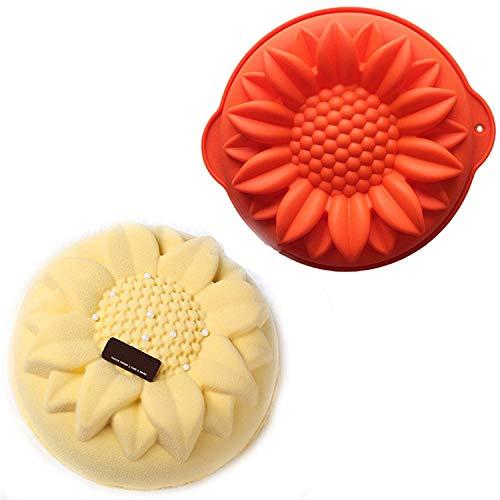 JasCherry Moule en silicone Pour Muffins, Cupcake, Chocolat, Pudding Et Gelée - Tournesol