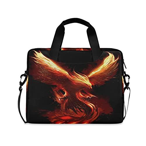 JNlover Animal Fire Phoenix Laptop Bag 16 inch, Portable Sleeve Briefcase Laptop Case Notebook Computer Carrying Case Bag for Women Men