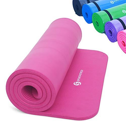 Sportastisch Top Material¹ Gymnastikmatte Yogamatte Gym Mat Pro mit Tragegurt & E-Book, rutschfeste Fitnessmatte Sportmatte, Extra Dicke Trainingsmatte mit bis zu 3 Jahre Garantie² (Pink)