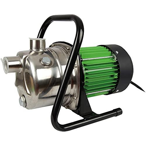Bestlivings Tuinpomp 3200 l/h debiet – 1000 W bewateringspomp, IPX4 waterpomp met handgreep, ideaal voor tuinbewatering
