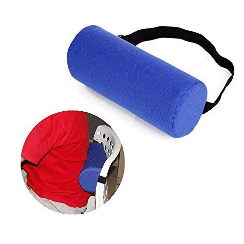 NEPPT Cuscino lombare per sollievo dal dolore lombare, in memory foam, cuscino cervicale per sedia da ufficio, seggiolino auto Blue