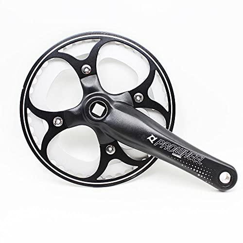 SXCXYG Bielas MTB Bicicleta de Carretera Crankset de Bicicleta de 170 mm Bicicleta de Bicicleta Velocidad de aleación de Aluminio única para Bicicleta Plegable Piezas de Bicicleta Bielas Bicicleta