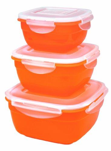 Lock & Lock HSM8450PSO3 Color Promotion Set Multifunktionsboxen 3tlg. orange