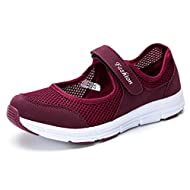 CHOKNESS Women's Casual Walking Sneakers Lightweight Breathable Flat Mary Jane Shoes