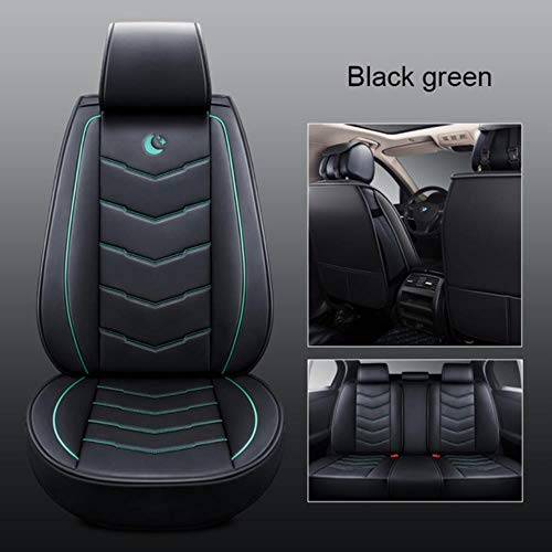 XIARI Universal Car Seat Cover Set Cushion Accessories For Toyota Camry Corolla 2020 Prius Venza Chr Avalon Rav4 4Runner Yaris Hilux Tacoma-Black Green