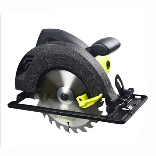 XDXDO Sierra Circular para Madera, 1500 W 6000 RPM, Bisel (0 A 45°) con Hoja De 185 Mm para El Corte Combinado De Madera Y Troncos, Profundidad De Corte: 63 Mm