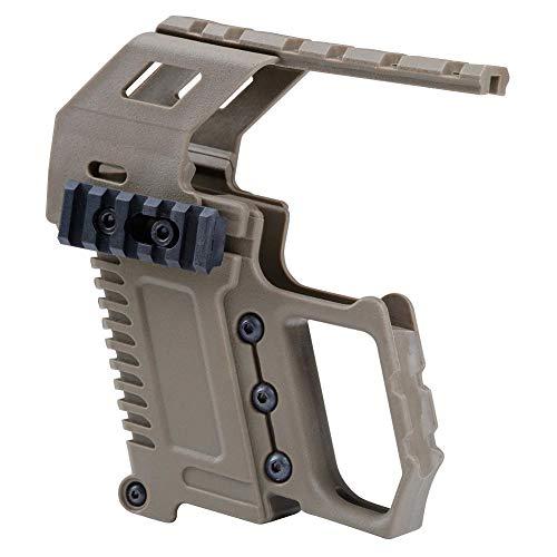 WENQUAN-AC, Taktische Pistole Karabiner Kit Glock Schiene Basis Ladegerät for Glock 17 18 19 Airsoft Military Gun Scope Jagd 2 Farben (Color : Tan)
