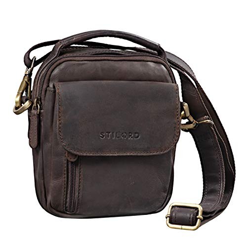 STILORD 'Keith' Petit Sac Besace Homme Cuir Sacoche...