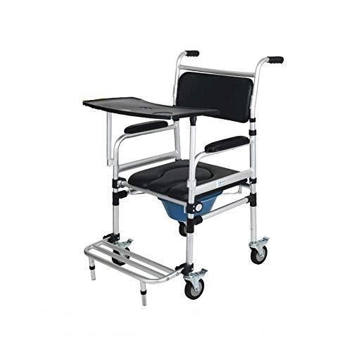 PsSpCo gehandicapte toiletstoel, toiletbril met wiel toiletpotten mobiele rolstoel toiletstoel, traplift voor grote apparatuur, zwart