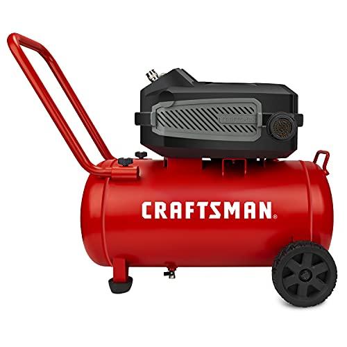 Craftsman HARD Air Compressor, 10 Gallon 1.8 HP 175 PSI, 4.0CFM@90PSI, Oil Free and Maintenance Free, Portable with Large Wheels, Model: CMXECXA0201041