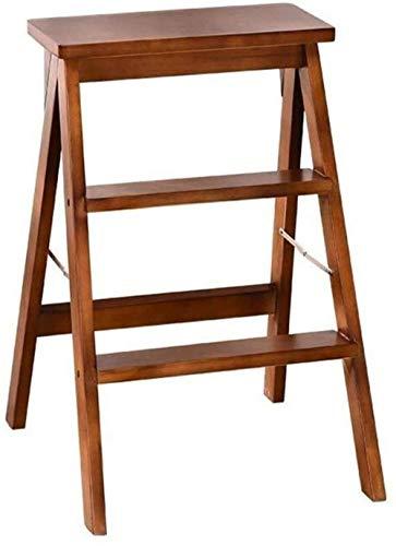 Paso de escalera hecha de taburete de madera maciza Paso multifuncional Silla multifuncional for taburete de paso / taburete de escalera con 3 pasos for el hogar y la cocina - 3 colores (Tamaño: B) Mú