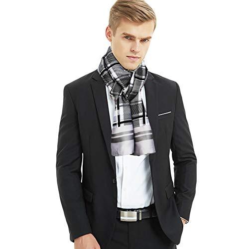 Foulard in Seta da Uomo Sciarpa di Seta a Doppia Faccia Uomo Sciarpa Cravatte Papillon di...