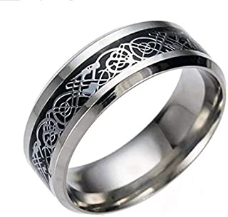 Fashion Ring for Men, Size 8 US