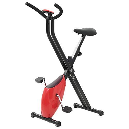 vidaXL Bicicleta Estática X-Bike Resistencia Cinta Roja Máquina Musculación