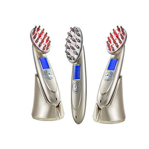 Elektrischer Massagehaarkamm, Kopfhautmassage leichte Perlmassage Friseurausrüstung