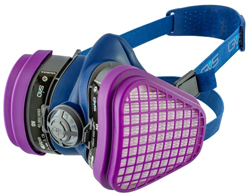 GVS SPR467 Elipse OV Dust and Organic Vapour Half Mask Respirator with Replaceable and Reusable Filters Included
