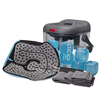 Cold Therapy System Kit by AIS Clear - Ice Circulation Machine with Pad, 3 Strap Wrap, Cold Cubes