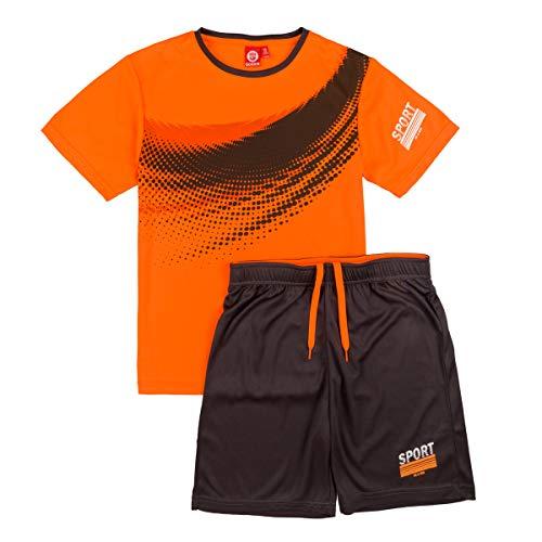 ALPHADVENTURE Go&Win Conjunto Deportivo Manga Corta Naranja y Gris Sparta Jr Para Niño (Naranja, numeric_160)