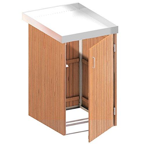 BINTO Mülltonnenbox Premium Hartholz System 1P - 5111