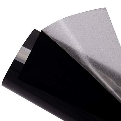 HOHOFILM Nero Flock trasferimento di calore vinile floccato HTV vinile fogli 50 'x32' ferro su per Tshirt indumento