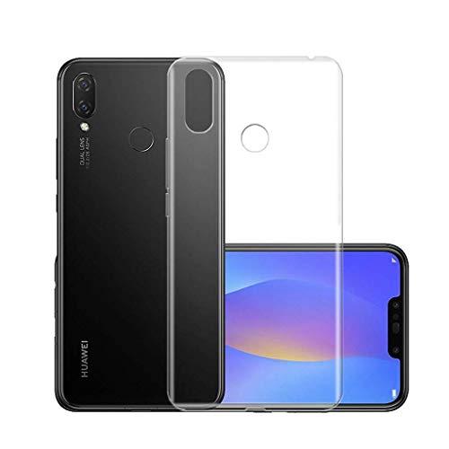 LJSM Hülle Huawei P Smart Plus/Huawei P Smart + / Huawei Nova 3i Weiche Handyhülle Transparent TPU Silikon Schutzhülle Durchsichtig Klar Tasche Handytasche Cover Schale Hülle für (6.3