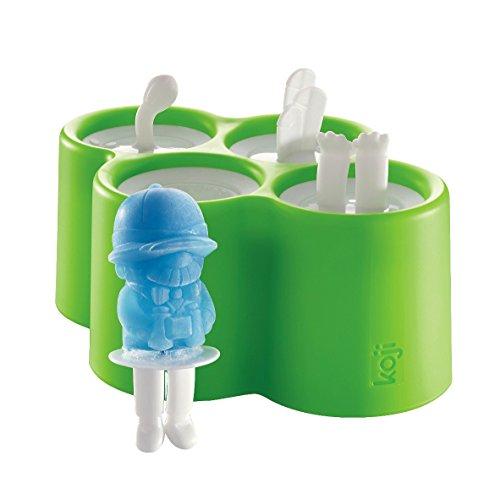 Zoku Eiszubereiter Safari Pops 4 Stück, Kunststoff, Mehrfarbig, 14 x 18 x 8 cm, 4-Einheiten