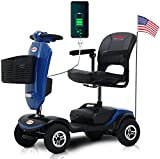 4 Wheel Powered Mobility Scooters for Seniors with Head Light, Quick Delivery, Folding Mobility Scooters for Adults with Basket for Gravida, Foldable in Boot Trunk for Traveling with Parents
