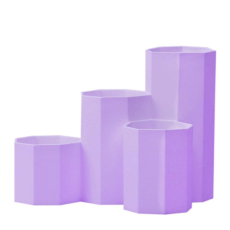 Quaanti Pencil Holders,Pen Holders Desktop Organizer Pen Pencil Makeup Brush Holder Container Storage Desk Caddy Tidy Table Desktop Cosmetic Holders Tray Pen Cups for Office School Home (Purple)