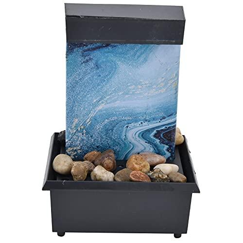 Fuente de agua de mármol USB Adornos Piedras irregulares y luces LED Fuente de alimentación USB liviana adecuada para el hogar, el dormitorio y la sala de estar