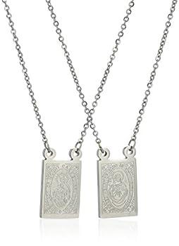 Men s Stainless Steel Mini Religious Necklace 24