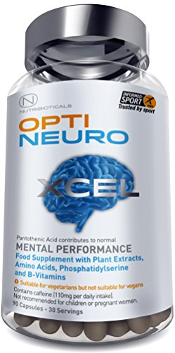 NEW Optineuro Xcel for Mental Performance | #1 Top Rated Nootropics | STRONGEST Formula on the Market 6073mg ACTIVE | Recommended for Advanced Supplement Users | 90 Capsules