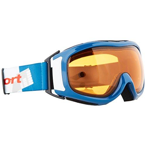 Ultrasport 331500000097 Occhiali da Sci / Snowboard, Adulto, Unisex, Taglia Unica, Blu/Bianco/Arancia