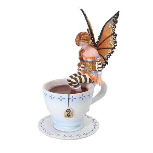 PTC 6.25 Inch Warm Toes Fairy in Tea Cup Mystical Statue Figurine