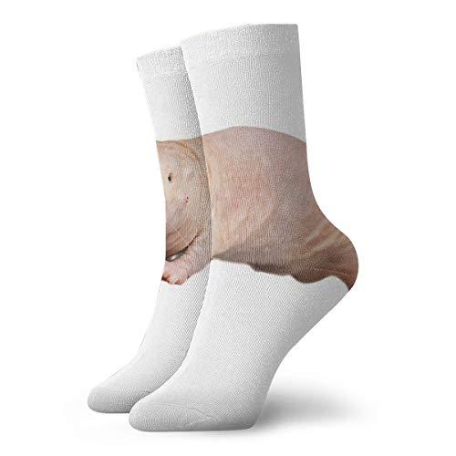 Heren Vrouwen Crew Jurk Sokken, Atletische Hardloopsokken, Novely Compressie Sokken Voor Hardlopen, Reizen, Fietsen, Zwanger, Verpleegster, Vlucht- Naakte Mol Rat