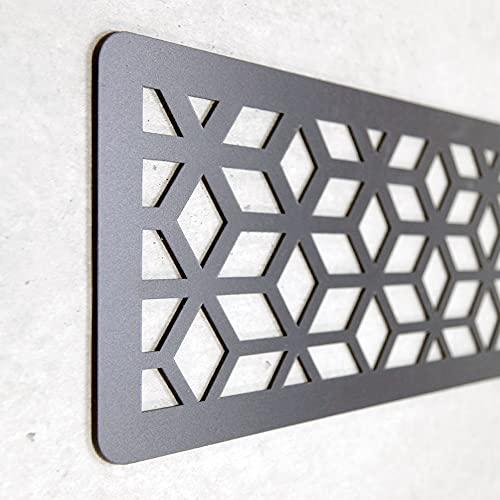 Cabecero Cama Decorativo Económico en PVC - Tipo Forja. Modelo - France (150cm x 60cm, Negro)