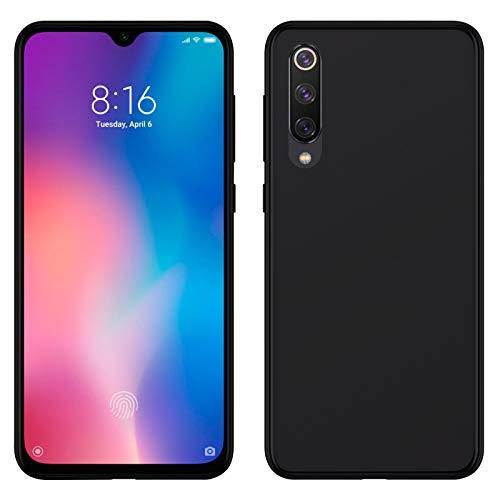 TBOC Funda de Gel TPU Negra para Xiaomi Mi 9 SE - Xiaomi Mi9SE [5.97 Pulgadas] Carcasa de Silicona Ultrafina y Flexible para Teléfono Móvil [No es Compatible con el Xiaomi Mi 9]