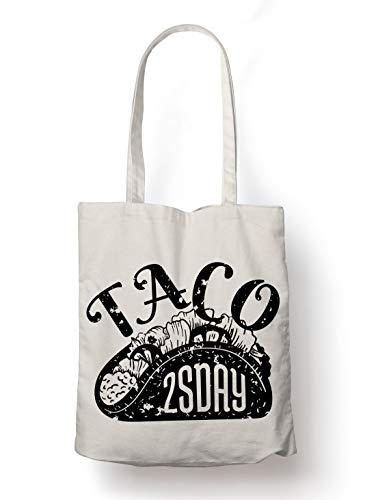 BLAK TEE Taco is for Tuesday Organic Cotton Reusable Shopping Bag Natural