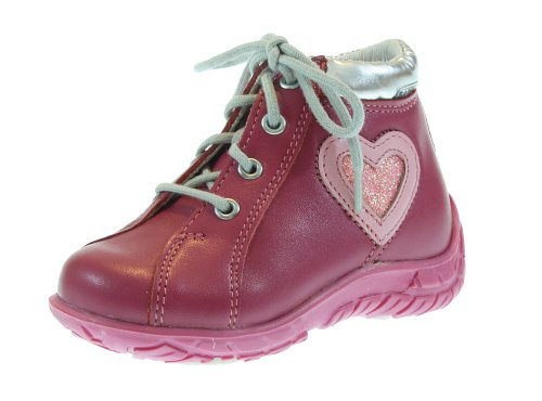 Bartek Girls Pink Leather Ankle Shoes with Laces 4137-G10 (Infant & Toddler)