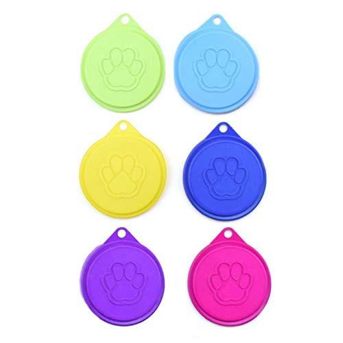 Cosy-TT Katzendosendeckel,Tierfutter-Dosendeckel,Universal-Silikon-Dosendeckel,Silikon-Deckel für Dosenfutter,Dosendeckel,Futterdosen Deckel,Dosendeckel für Hunde und Katzen,für Tierfutterdosen 6PCS