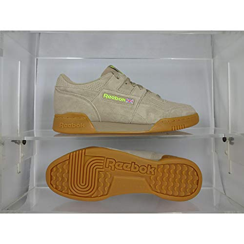 Reebok Workout Plus MU Herren Schuhe (43 EU, Sand BEIGE/NEON Lime/Gum)