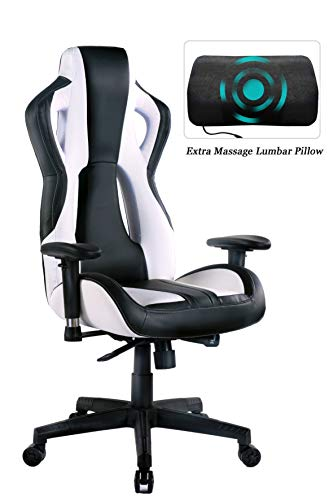 HEALGEN Gaming Chair Racing Style High-Back PU Leather Office Chair PC Desk Chair Executive and Ergonomic Swivel Chair (907Black) chair gaming HEALGEN