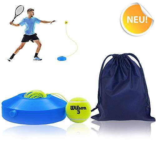 All-Ant Tennis-Trainer Set mit Wilson Tennisball | innovatives Freizeit-Sport-Gerät zum Spielen im Freien, im Garten, im Park | inkl. Transporttasche & Übungsvideos
