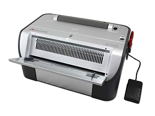 Akiles AlphaCoilE Electric Coil Binding System Punches 20 Sheets Per Punch All Electric Operation Includes Foot Pedal Switch Fully Disengageable Pins Free Crimper amp Crimper Holder