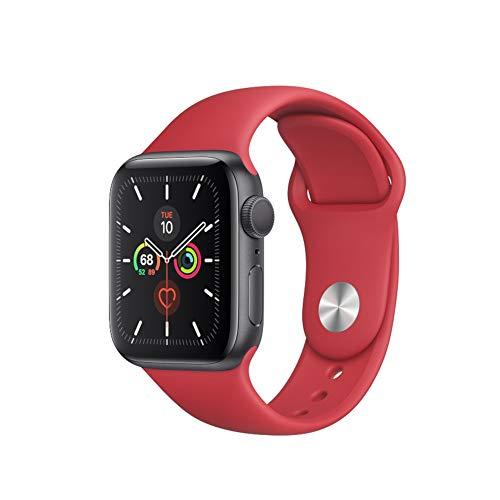 Colorfone - Cinturino in Silicone per Apple Watch, 38/40 mm, Colore: Rosso