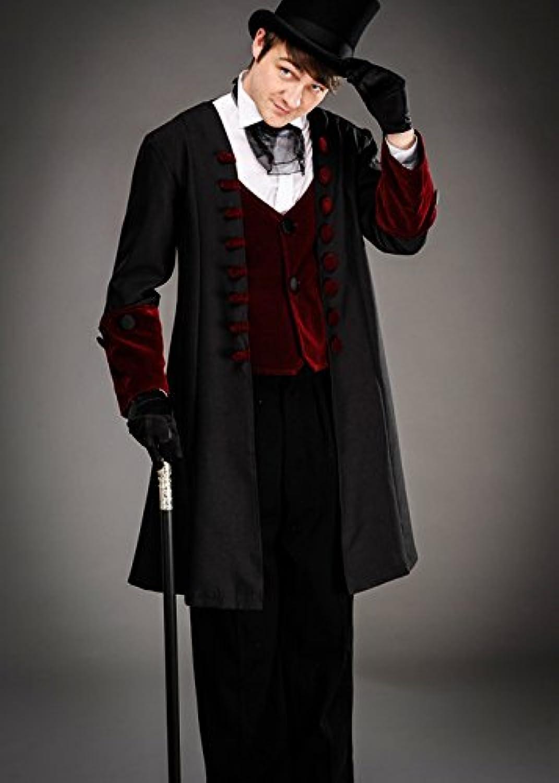 barato Magic Box Disfraz Disfraz Disfraz de Caballero Victoriano gótico para Hombre Large (42-44  Chest)  centro comercial de moda