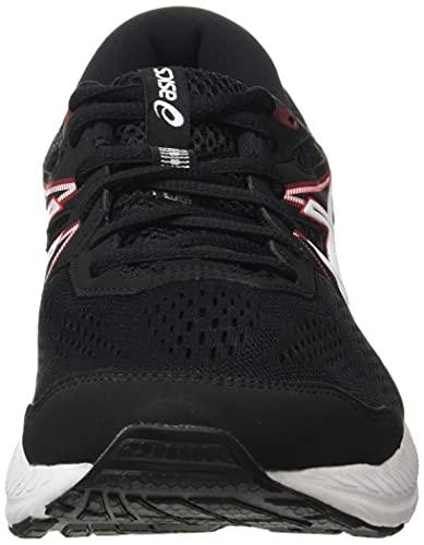 Asics Gel-Contend 7, Zapatillas para Correr Hombre, Black/Electric Red, 42 EU