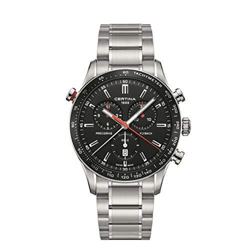 Certina Men's DS-2 Flyback 43mm Steel Bracelet Quartz Watch...